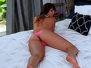 Shiny and slippery Latina ass