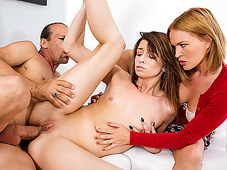 Teenager woman Aspen Ora gets her tight caboose humped in different postures