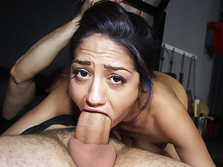 Steaming nosey gal Julia de Lucia gets drilled  by her step parent
